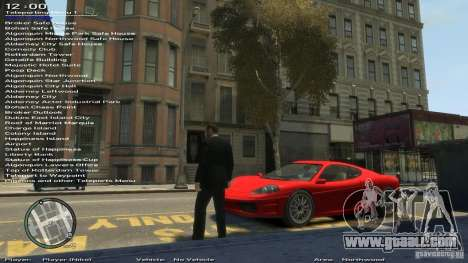Simple Trainer Version 6.2 for 1.0.1.0-1.0.0.4 for GTA 4 seventh screenshot