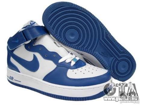 Blue Nike Air Force for GTA San Andreas