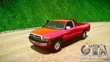 Dodge Ram 2500 1994 for GTA 4 inner view
