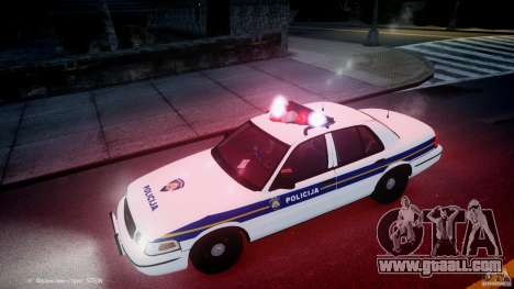 Ford Crown Victoria Croatian Police Unit for GTA 4 engine