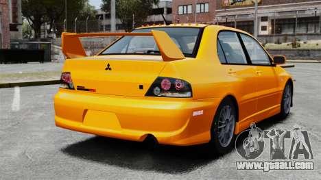 Mitsubishi Lancer Evolution IX MR for GTA 4 back left view