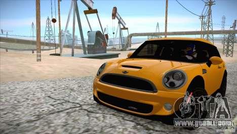 MINI Cooper Clubman JCW 2011 for GTA San Andreas inner view