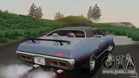 Plymouth GTX 426 HEMI 1971 for GTA San Andreas side view
