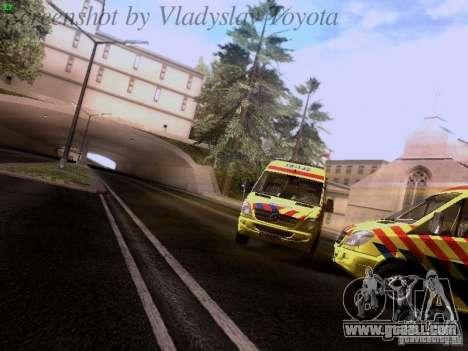 Mercedes-Benz Sprinter Ambulance for GTA San Andreas back view