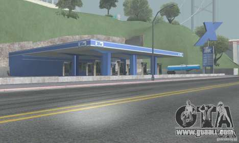 The new gas station TNK TNK + Trailer for GTA San Andreas