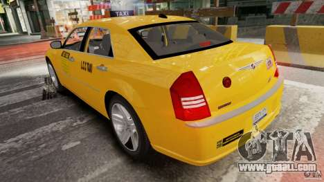 Chrysler 300c 3.5L TAXI FINAL for GTA 4 back left view