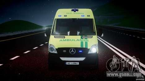 Mercedes-Benz Sprinter PK731 Ambulance [ELS] for GTA 4 bottom view