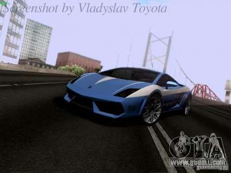 Lamborghini Gallardo LP560-4 Polizia for GTA San Andreas left view