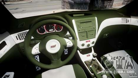 Subaru Impreza WRX STi 2009 for GTA 4 back view