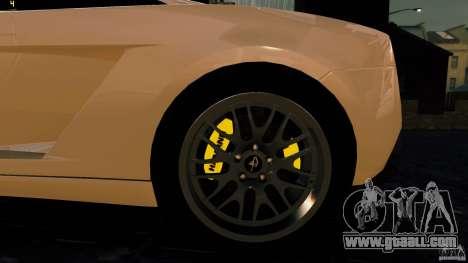 Lamborghini Gallardo Hamann for GTA 4 back view