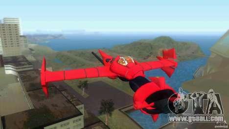 Swordfish Mono Racer for GTA Vice City back left view