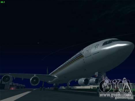 Airbus A340-600 Singapore Airlines for GTA San Andreas back left view