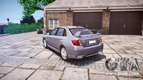 Subaru Impreza WRX 2011 for GTA 4 back left view