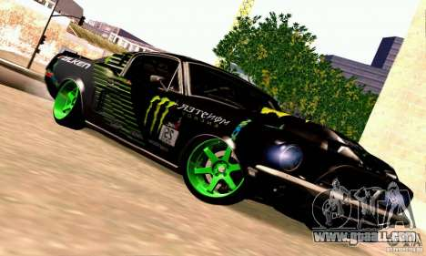 Shelby GT500 Monster Drift for GTA San Andreas back view