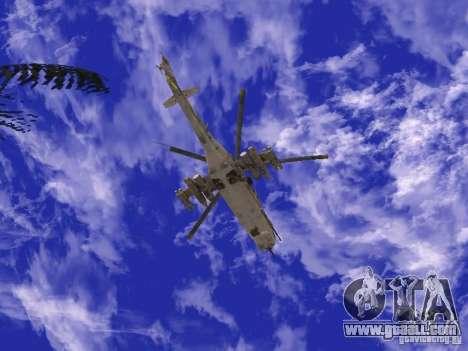 Mi-24 of COD MW 2 for GTA San Andreas right view