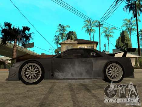 Nissan Skyline R34 GT-R for GTA San Andreas left view