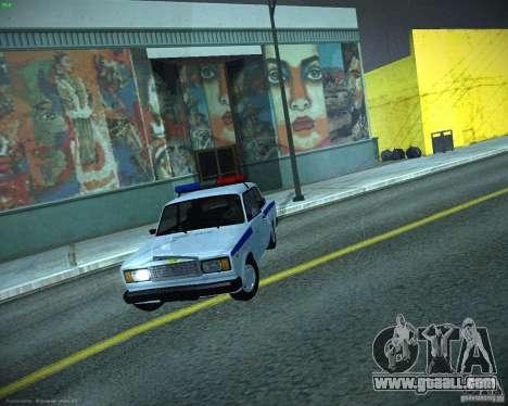 VAZ 2107 Police for GTA San Andreas inner view