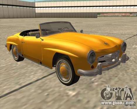 Mercedes Benz 190SL 1960 for GTA San Andreas back left view
