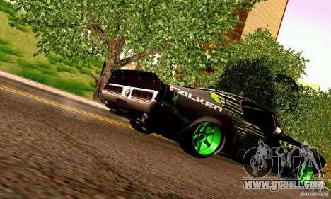 Shelby GT500 Monster Drift for GTA San Andreas bottom view