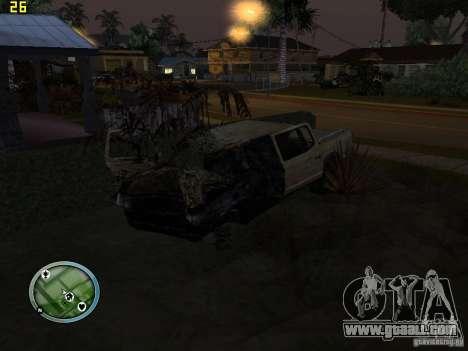 Broken cars on Grove Street for GTA San Andreas