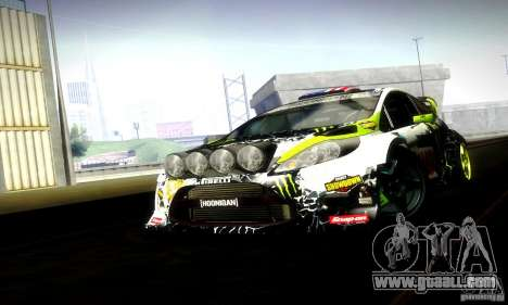 Ford Fiesta Gymkhana 5 for GTA San Andreas back view
