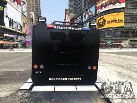 Lenco BearCat NYPD ESU V.1 for GTA 4 back left view