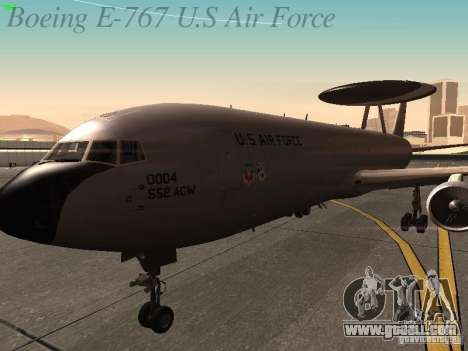 Boeing E-767 U.S Air Force for GTA San Andreas side view