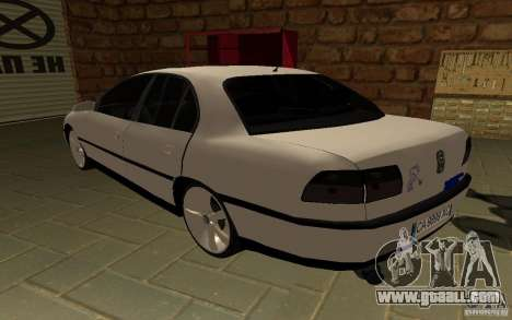Opel Omega for GTA San Andreas back left view