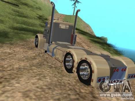 Pimped Peterbilt 381 for GTA San Andreas back left view