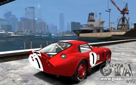 Shelby Cobra Daytona Coupe 1965 for GTA 4 right view