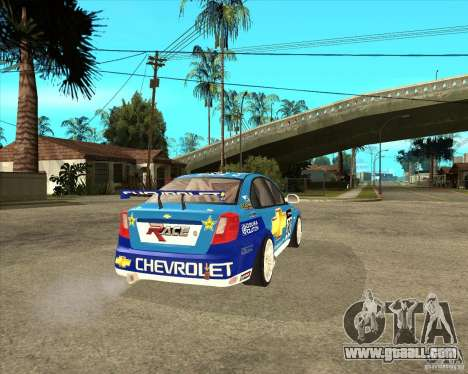 Chevrolet Lacetti WTCC for GTA San Andreas back left view