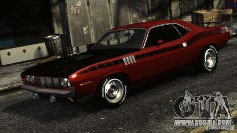 Plymouth Hemi Cuda 1971 for GTA 4 left view