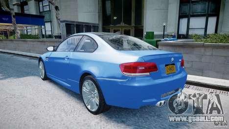BMW M3 E92 2008 v.2.0 for GTA 4 back left view