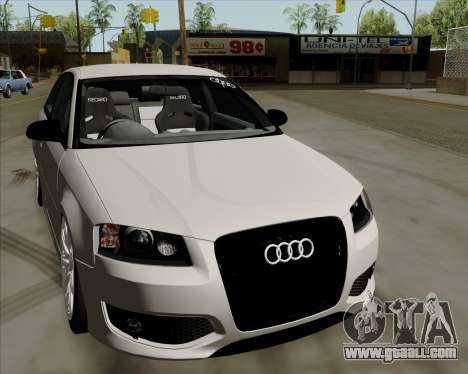 Audi S3 V.I.P for GTA San Andreas