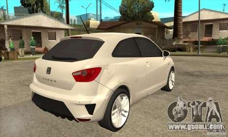 Seat Ibiza Cupra 2009 for GTA San Andreas right view