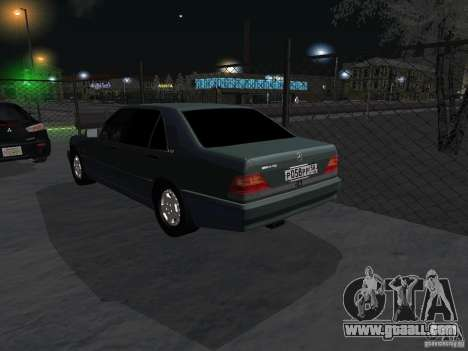 Mercedes-Benz W124 for GTA San Andreas back view
