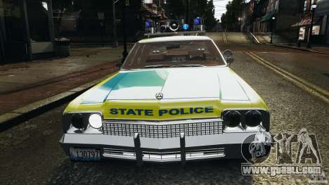 Dodge Monaco 1974 Police v1.0 [ELS] for GTA 4 wheels