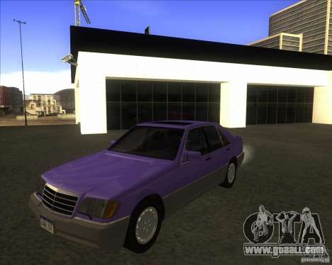 Mercedes Benz 400 SE W140 (Wheels style 3) for GTA San Andreas