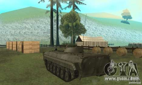 Bmp-1 Grey for GTA San Andreas back left view