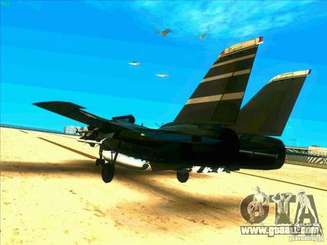F-14 Tomcat Schnee for GTA San Andreas back left view