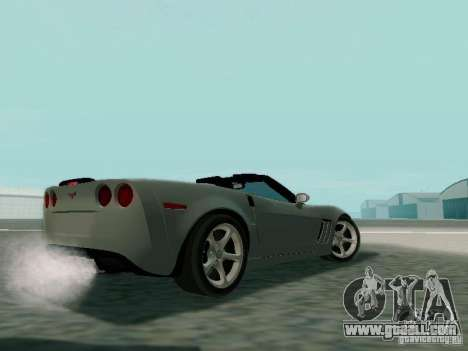 Chevrolet Corvette C6 GS Convertible 2012 for GTA San Andreas back left view