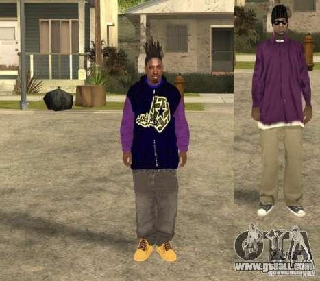 Skinpack Ballas for GTA San Andreas forth screenshot