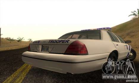Ford Crown Victoria Arkansas Police for GTA San Andreas left view