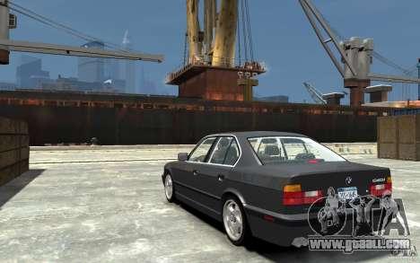 BMW 540i E34 v3.0 for GTA 4 back left view