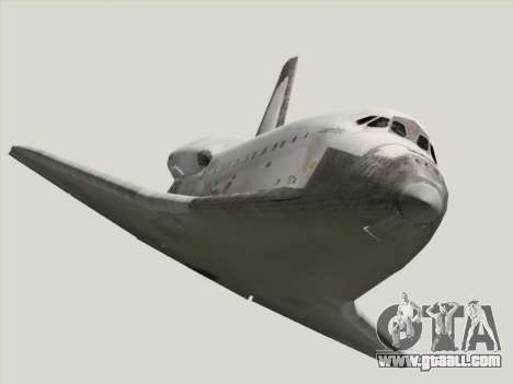 Space Shuttle for GTA San Andreas back view