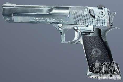 Desert Eagle Silver for GTA San Andreas second screenshot