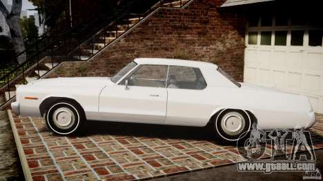 Dodge Monaco 1974 for GTA 4 left view