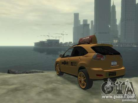 Lexus RX400 New York Taxi for GTA 4 right view