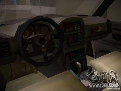 Mitsubishi Pajero for GTA San Andreas inner view