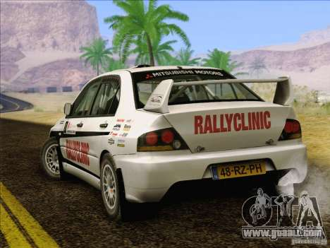 Mitsubishi Lancer Evolution IX Rally for GTA San Andreas engine